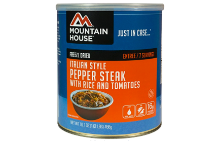 Mountain House Italian Pepper Steak 1 Pound Cans