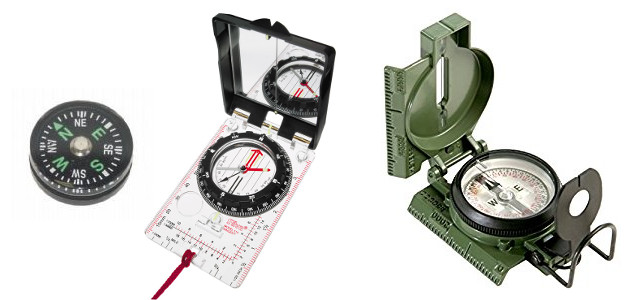 Types of survival compasses
