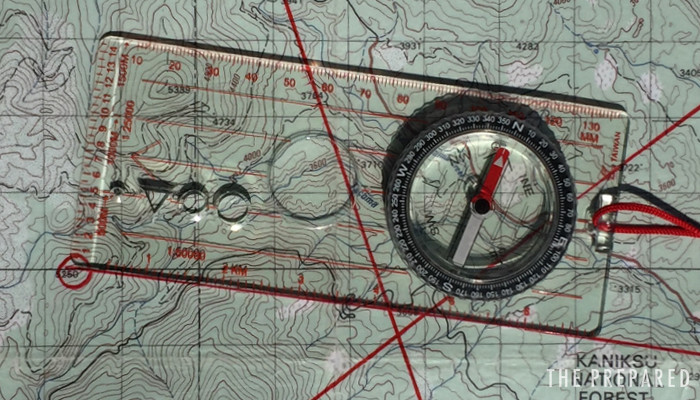Learn map and compass survival
