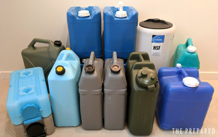 Best emergency water storage containers review & Best Two Week Emergency Water Storage Containers - The Prepared
