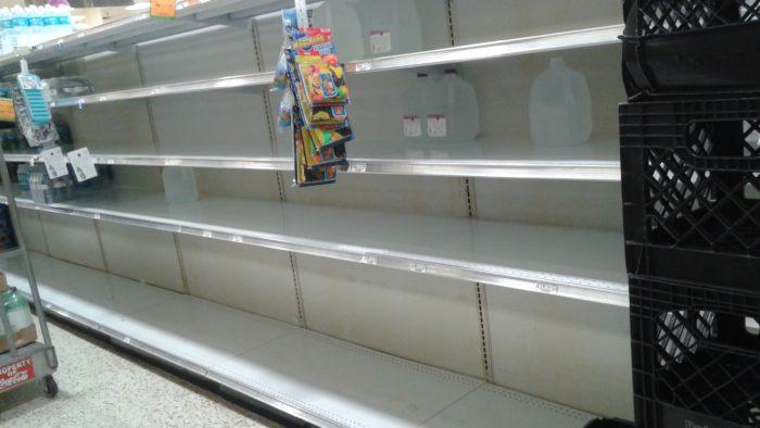 hurricane survive prepare water grocery store empty shelves florida publix