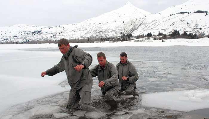 how to survive falling through ice cold severe winter navy seal