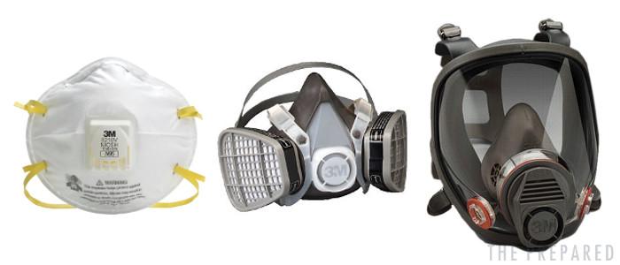 disposable half full face respirators