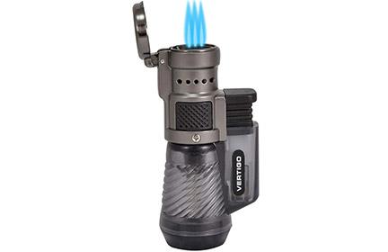 Vertigo Cyclone Triple Torch Cigar Lighter Charcoal 2 Pack
