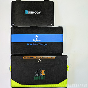2019 portable solar charger review compare