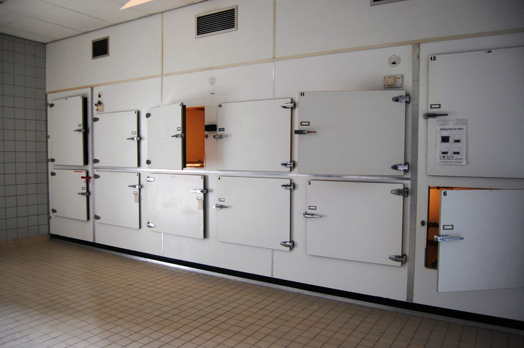 Photo of an empty morgue
