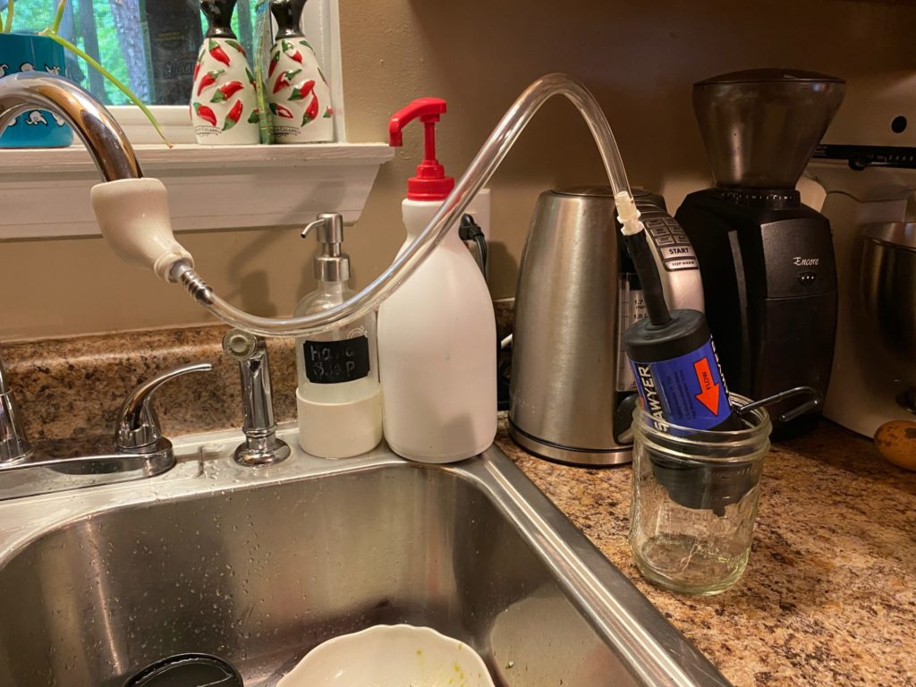 The Sawyer faucet adapter