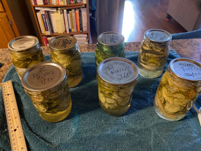 Cans of pickles