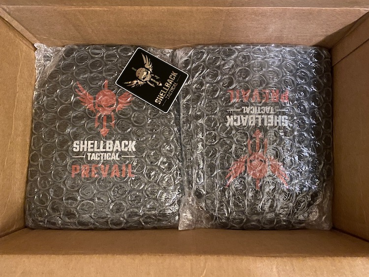 Shellback Prevail plates in box