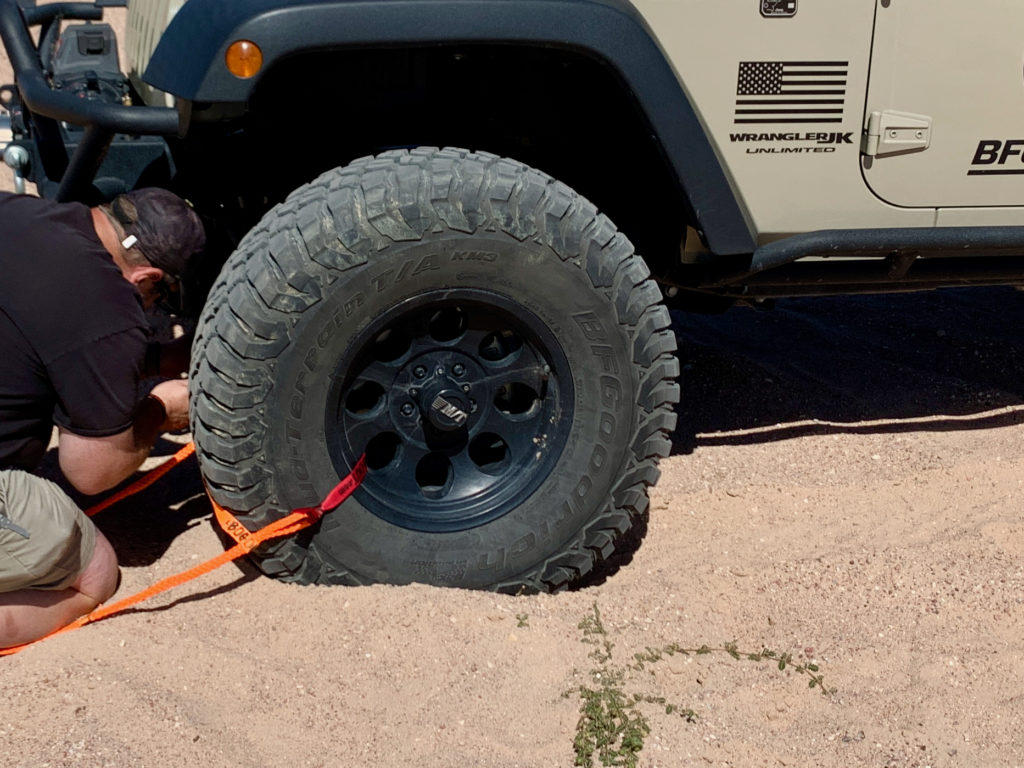 attaching BOG OUT to tire