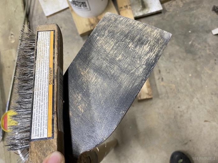 Brushed mattock