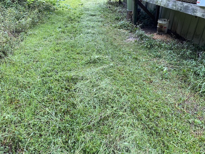 Small windrow